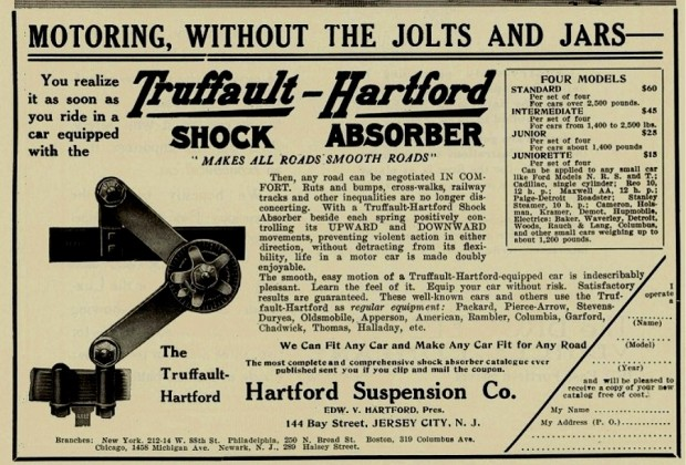 Hartford Suspention - Truffault-Hartford Shock Absorber 1911
