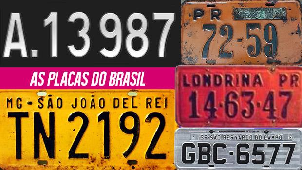 A história e a evolução das placas de carro do Brasil - FlatOut! 06de1bb7d9891