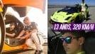 Este garoto tem só 13 anos, já é piloto e passou dos 320 km/h em um Bugatti Veyron