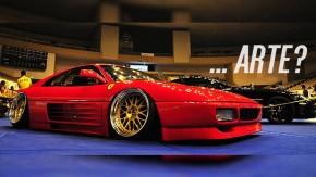 Uma Ferrari 348 <i>stanced</i> seria&#8230; arte?