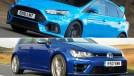 VW Golf R vs. Ford Focus RS: qual será o mais veloz na pista?