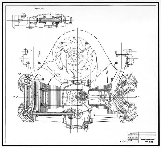 Porsche-4-Zylinder-DOHC-Motor