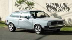 Sim, isto é um Gol BX com motor boxer Subaru e 200 cv – e está à venda!