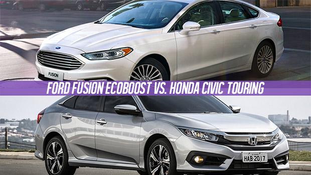 O duelo do momento honda civic touring vs ford fusion for Ford fusion vs honda civic