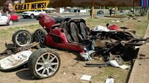 """Alguém destruiu um raríssimo Koenigsegg CCX """"Custom Vision"""""""