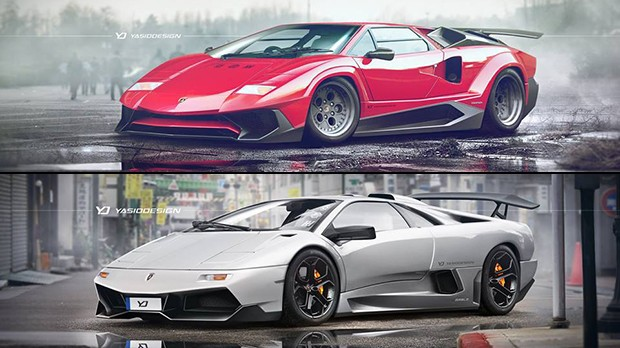 Este cara modernizou virtualmente os Lamborghini das antigas e… até que ficou bacana!