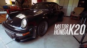 Sim, algum maluco colocou um motor Honda K20 turbo em um Porsche 911 clássico
