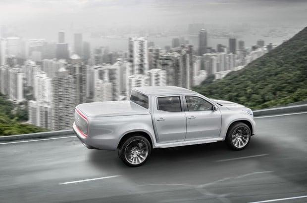 Mercedes-Benz Concept X-CLASS stylish explorer – Exterieur, Weißmetallic // Mercedes-Benz Concept X-CLASS stylish explorer – Exterior, White metallic