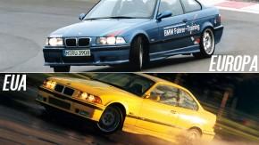 Quais são as diferenças entre o BMW M3 europeu e o BMW M3 americano?