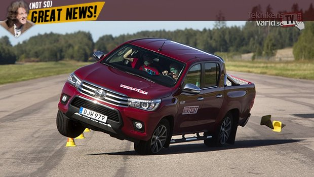 Toyota Hilux reprova (de novo) no teste do alce