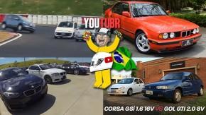 Up TSi no Velo Città (em duas rodas!), acelerando o único BMW M5 E34 vermelho do Brasil, Gol GTI enfrenta Corsa GSi e mais nos melhores vídeos da semana!