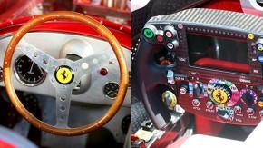Madeira, couro, metal e fibra de carbono: a evolução dos volantes de Fórmula 1