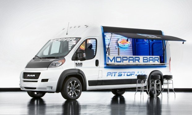 "Ram Commercial's Class 2 full-size van is ""highly customizable,"" which puts it right in the Mopar brand's wheelhouse, resulting in the cleverly modified, entertainment-ready Ram ProMaster Pit Stop."