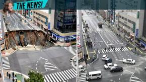 Japoneses reconstruíram esta avenida em menos de uma semana