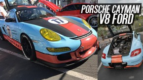 Como salvar um Porsche Cayman com o motor destruído? Colocando um V8 Ford nele, oras!