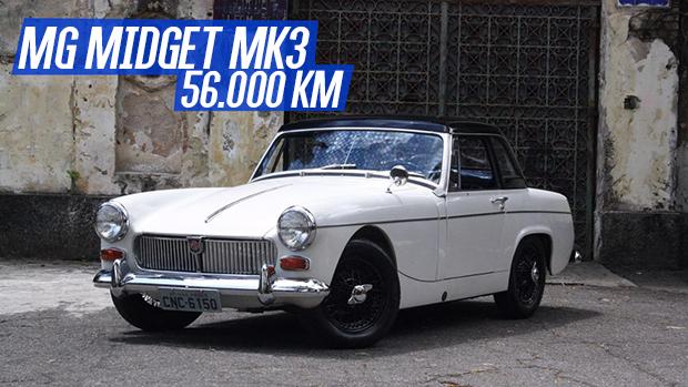 MG Midget MK3: um legítimo roadster britânico com apenas 56.000 km rodados (e nunca restaurado!) à venda no Brasil