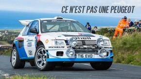Um Lancer Evolution com carroceria de Peugeot 205 T16 é o carro de rali dos nossos sonhos