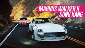 Furious Outlaws: Magnus Walker e Sung Kang trocam de carro em uma estrada nas montanhas