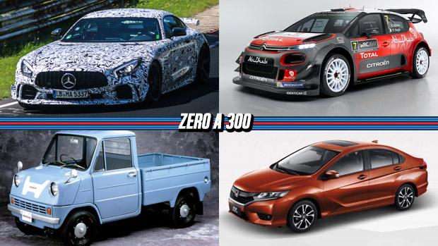 Mercedes-AMG GT pode ganhar versão com 600 cv, o novo Citroën C3 WRC, Honda chega aos 100 milhões de carros produzidos e mais!