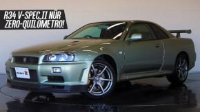 É assim um Nissan Skyline GT-R R34 V-Spec II Nür praticamente zero-quilômetro