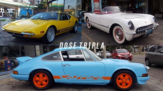 """Chevrolet Corvette, De Tomaso Pantera e Porsche 911E """"Carrera Look"""": qual dos três você levaria para casa?"""