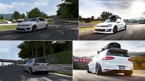 """Este cara planejou o ensaio fotográfico de seu Golf GTI """"RS"""" usando Forza Motorsport 6"""