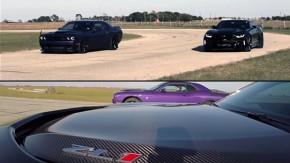 Hellcat vs. ZL1: as versões mais nervosas do Challenger e do Camaro se enfrentam