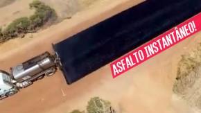 Como é que estes caras conseguem asfaltar uma estrada tão rápido?