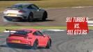 Porsche 911 Turbo S e 911 GT3 RS se enfrentam na pista: opostos em propostas, performance similar
