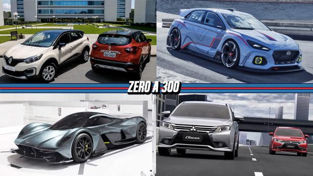 Renault Captur nacional é lançado por R$ 79.000, Hyundai i30 N terá 275 cv, hipercarro Aston Martin terá V12 aspirado de 1.000 cv e mais!