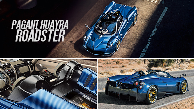 Pagani Huayra Roadster é uma escultura de fibra de carbono com um V12 biturbo de 764 cv