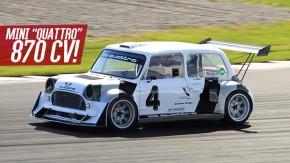 """Mini """"Quattro"""": cinco cilindros, turbo, tração integral e quase 900 cv"""