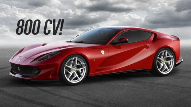 Ferrari 812 Superfast: a sucessora da F12berlinetta tem 800 cv e um nome histórico