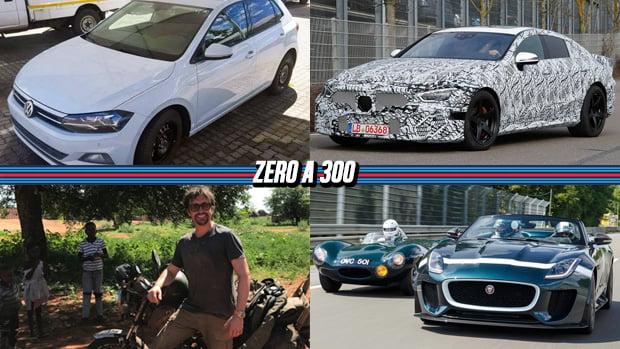 Novo Polo (ou futuro Gol?) é flagrado sem disfarces, Mercedes-AMG GT quatro-portas já está em testes, Richard Hammond sofre acidente em gravação e mais!