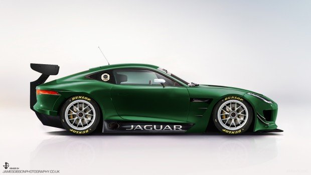 Ftype-gt3-side-view-green-i-1