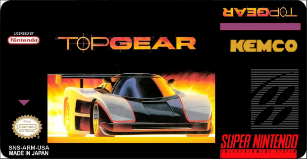 Top Gear 1 Label Snes by Victor Kratos