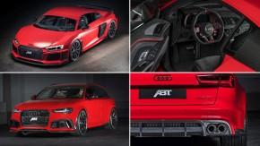 Abt deixa Audi R8 V10 e RS6 Avant ainda mais brutais