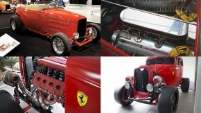 A estranha arte de colocar motores Ferrari em hot rods
