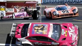 Os carros de corrida cor-de-rosa mais legais que já existiram