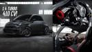 O Fiat 500 Abarth da Pogea Racing tem 410 cv em seu motor 1.4 turbo