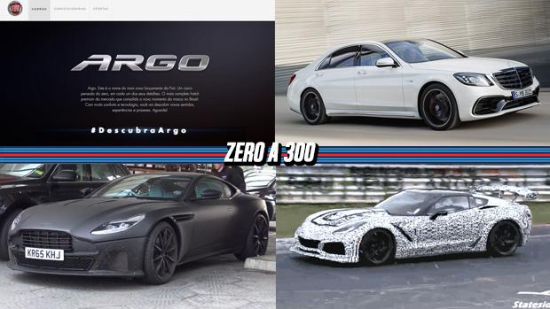 Fiat Argo é o nome do sucessor de Punto e Palio, Mercedes Classe S ganha novos motores e mais potência, o novo Corvette ZR1 em ação e mais!