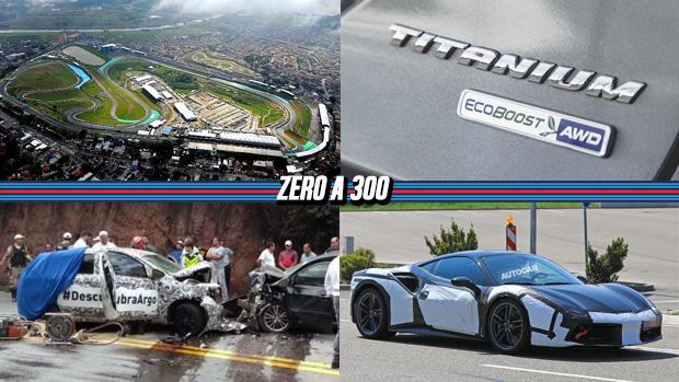 Interlagos poderá ter condomínios, Fiat Argo se envolve em acidente durante testes, a futura Ferrari 488 GTO em testes e mais!