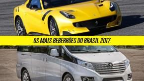 Os carros mais beberrões do Brasil em 2017