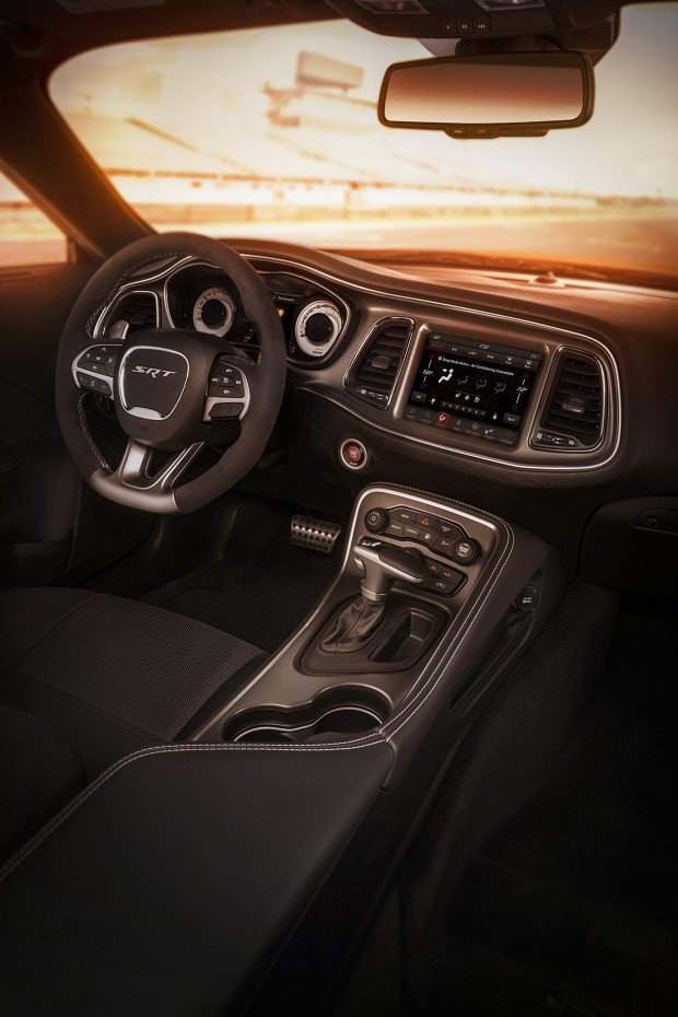 Interior of the 2018 Dodge Challenger SRT Demon.