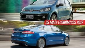 Os carros mais econômicos do Brasil em 2017