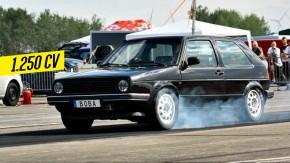 Isto é um Golf Mk2 com motor 2.0 turbo de 1.234 cv – e que faz o quarto-de-milha em 8 segundos