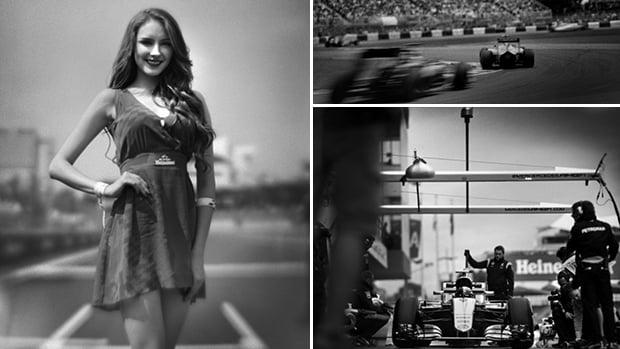 A beleza nostálgica da Fórmula 1 fotografada com uma câmera de 104 anos