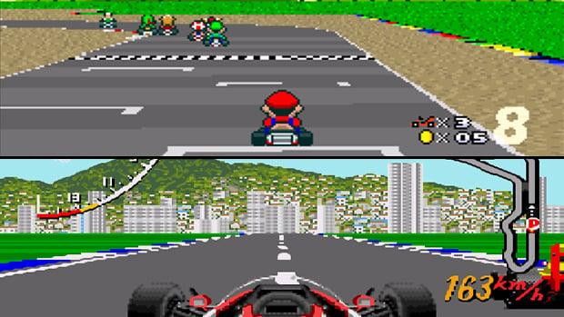 Qual é seu game de corrida favorito de 8-bits e 16-bits?