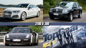 """Audi A5 chega ao Brasil por R$ 190.000, Duster Oroch ganha versão """"pé-de-boi"""", o primeiro trailer de Top Gear America e mais!"""