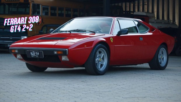 ferrari dino 308 gt4 a primeira ferrari com motor v8 central traseiro venda no brasil flatout. Black Bedroom Furniture Sets. Home Design Ideas